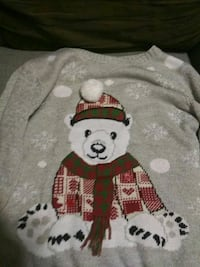 white and red bear print sweater Stafford, 22554