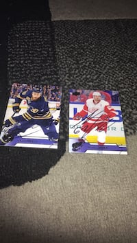 Two hockey player trading cards Vancouver, V5M