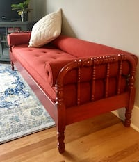 Antique Red Couch/Twin Daybed  SEATTLE