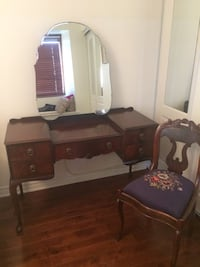 brown wooden dresser with mirror Montréal, H3J 1T6