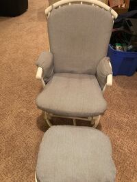 white and gray padded chair Pikesville, 21208