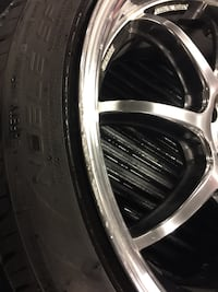 """Work Emotion D9r Staggered 18"""" rims and tires cheap.. 5x114.3 40 km"""