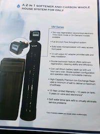 Mixed bed water softener made by PENTAIR  Mississauga, L5N 4H4