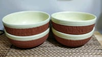 Set of 4 large bowls - mix of ceramic & clay 549 km