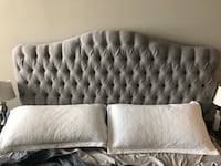 King size grey upholstered headboard Mc Lean, 22102