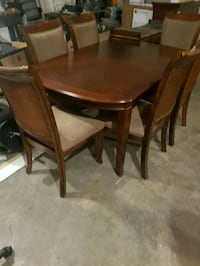 8 piece dining table set with leaf