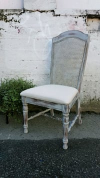 white and gray metal chair Vancouver, V6H 3J6