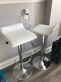 White Curved Adjustable Bar Stool Annandale, 22003