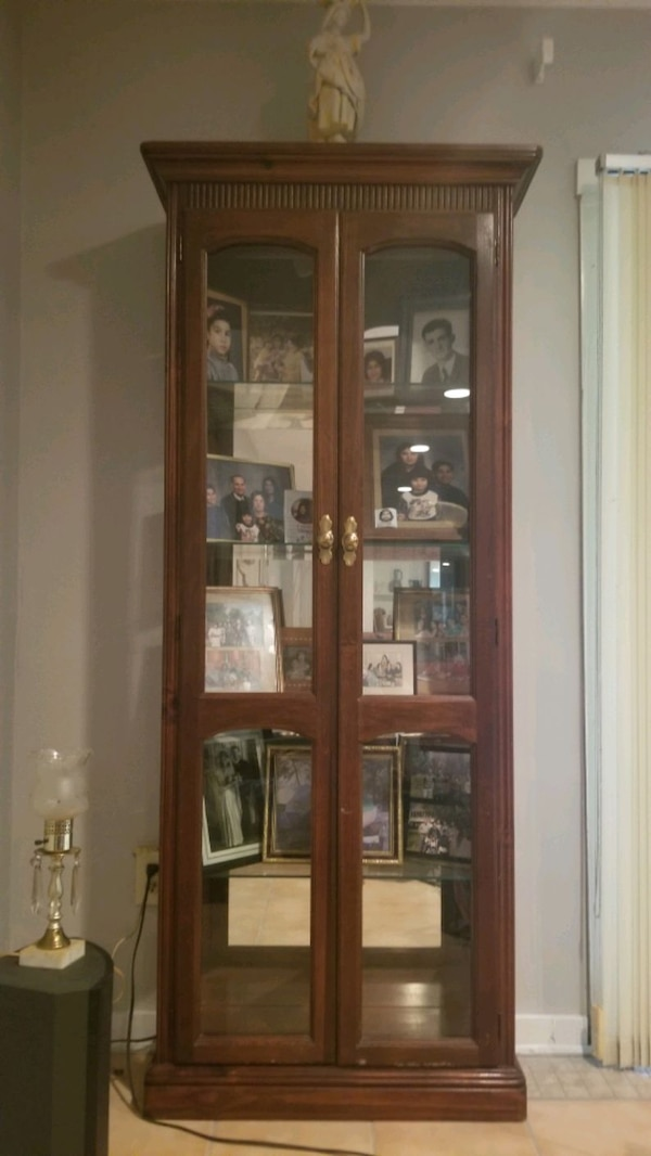 Antique glass cabinet