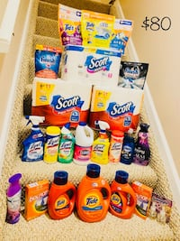 Tide laundry Detergents and Scott toilet tissue and paper towel.  Parkville, 21234