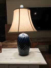white and black ceramic table lamp Westminster, 21158