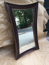 Beveled Wood Frame Mirror