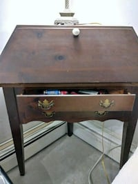 black and brown wooden side table Marblehead, 01945