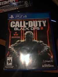 Sony PS4 Call of Duty Black Ops III case Silver Spring, 20905