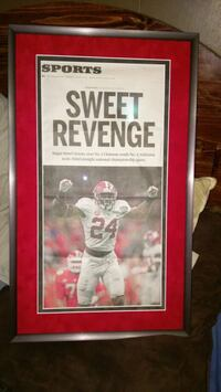 2 Framed Alabama  National Champ Newspapers