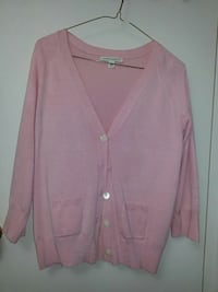 pink button-up cardigan Toronto, M2N