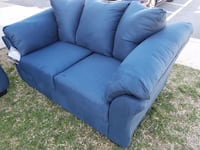 NEW ASHLEY Blue color sofa & loveseat 2pc set College Park