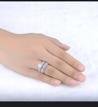 Sterling silver cz ring set size 8 brand new  Woodbridge, 22192