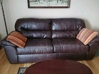 brown leather 3-seat sofa Bloomfield, 07003