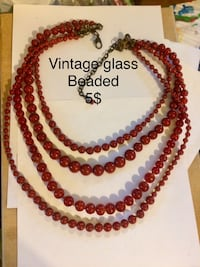 red and brown beaded necklace Hamilton, L8L 6M8