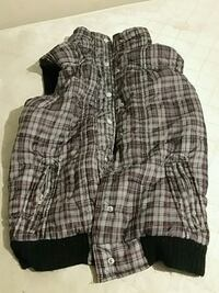 gray and black plaid button-up vest Modesto, 95350