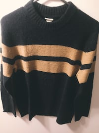 Navy and yellow striped sweater Toronto, M6J 2N3