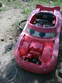 pink and black ride on toy car