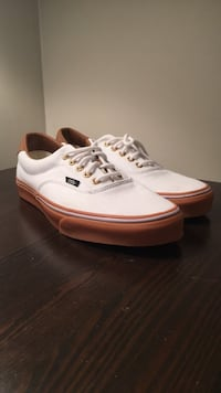 White and Brown Vans (Size 10.5) Calgary, T3L