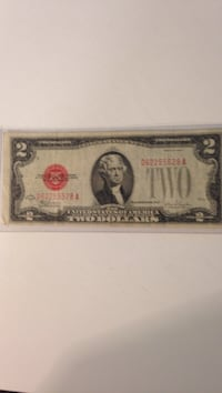 1928 two dollars United States note,red seal. in very fine shape Winchester, 22602