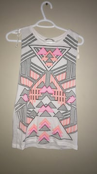 white, pink, and black chevron print dress Calgary, T3K 0J8