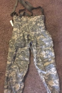 Army cold weather pants with suspenders