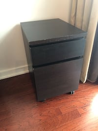 Black Brown IKEA file Cabinet  Toronto, M4Y 1T1