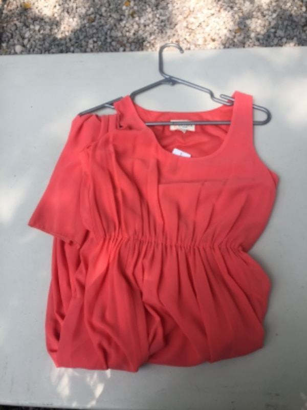 women's red blouse