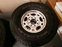 Set of 4 tires & rims from 2005 Chevy 2500HD, 8 lug