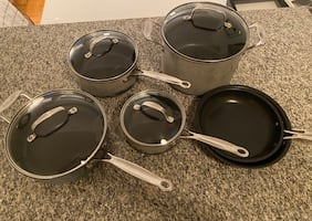 CUISINART CLASSIC NON-STICK 10 PC COOKWARE SET with LIDS