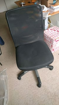 black leather office rolling armchair College Park, 20740