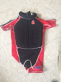 black and red Iron Man spring wetsuits 550 km