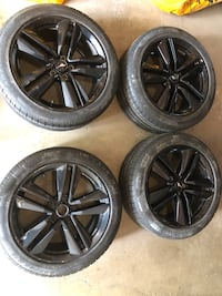 "19"" Mustang wheels with winter tires Mississauga, L5B 3C9"