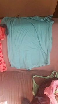 teal and white scoop-neck shirt Omaha, 68144