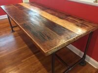 Handmade - uniquely crafted - wooden DINING TABLE w/ steel piping - 7FT by 3FT Springdale, 45246