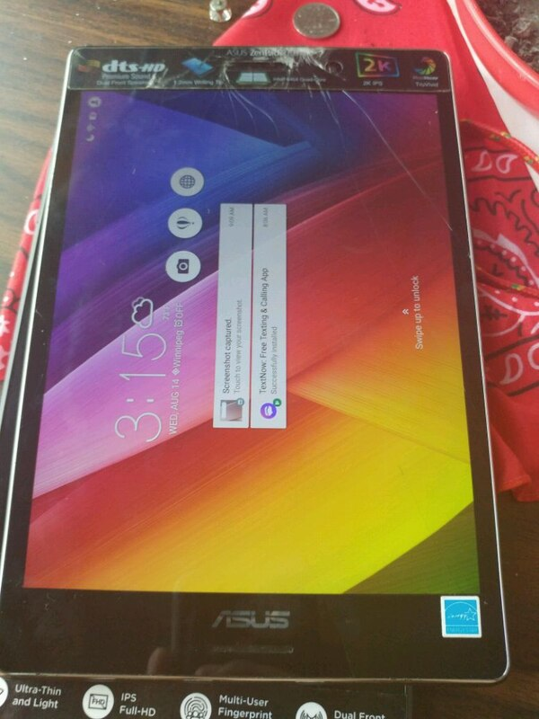 64gb Asus tablet with crack