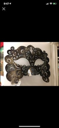"""Mask wall art, new, created from tin, imported from Indonesia: 24"""" x 36"""". Scroll to see pictures, and details. Port Moody Port Moody, V3H 4C6"""