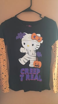 black Hello Kitty Creep T Real graphic crew-neck shirt