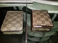 two brown and white floral luggage bags Palm Springs, 92262