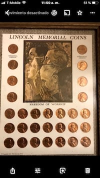 assorted color coin collection in box Washington, 20024