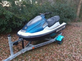 Wave runner with trailer
