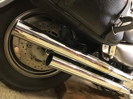 Vance and Hines Chrome Muffler Slip Ons