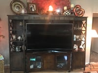 Entertainment center 3 pieces bought about 3 years ago and we are down sizing to a smaller home so we don't need to.has storage under for cd and dvd Canandaigua, 14424