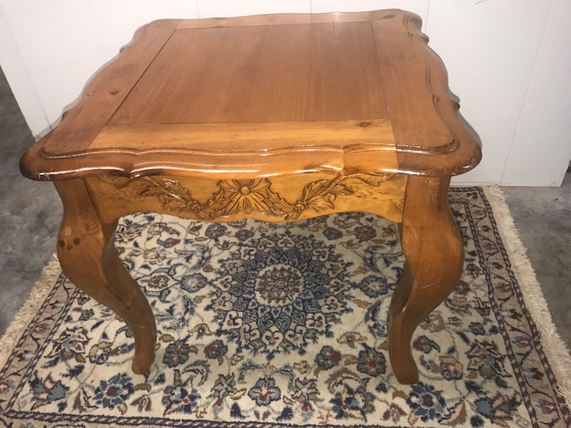 Large French Provincial Coffee Table and Side Table feff7c71-32cb-4cc6-9fe5-864e0bec6a05