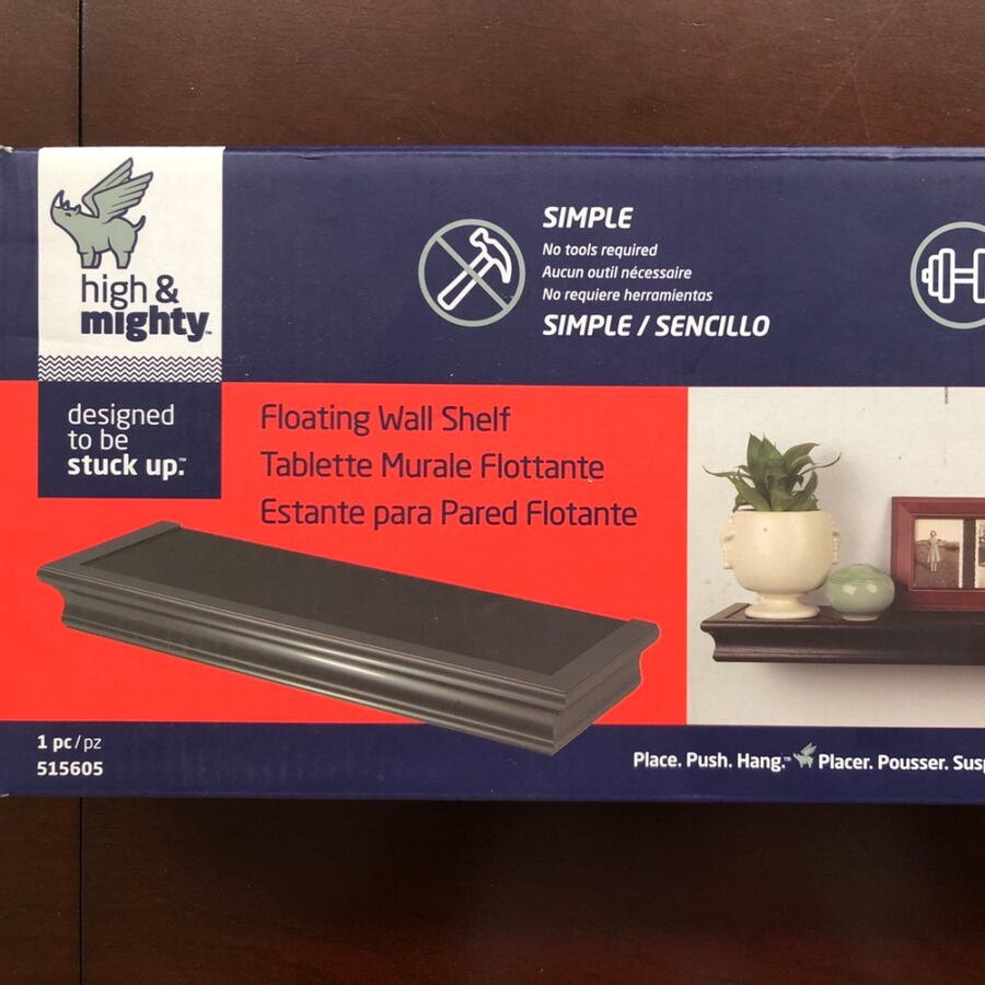 High and mighty floating wall shelf 47c3247b-6c74-427f-9c16-98cd5629deac